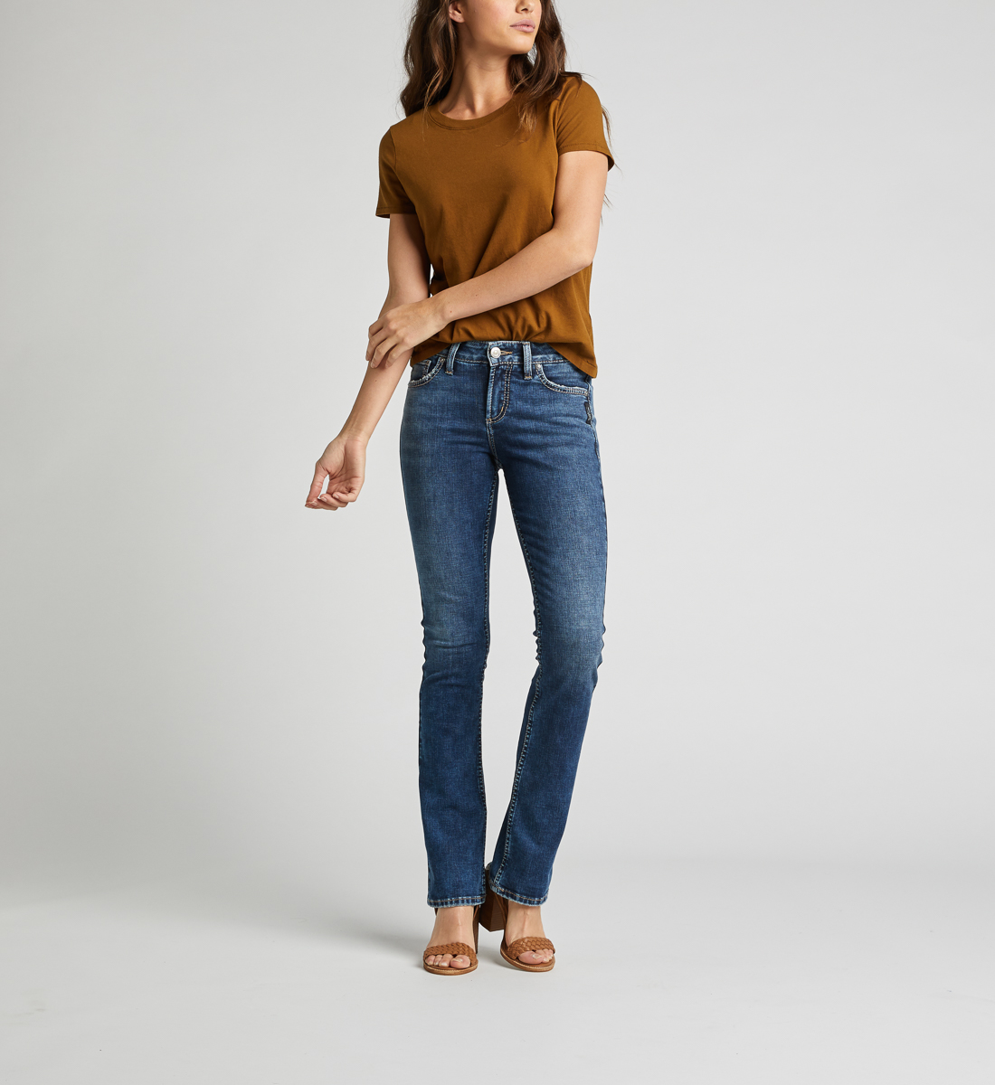 Avery High Rise Slim Bootcut Jeans Alt Image 1