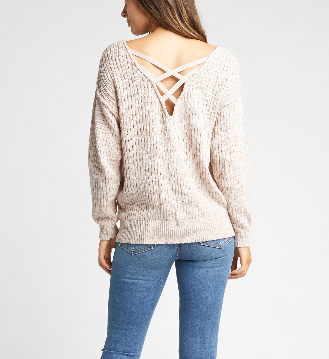Seren Sweater,Blush Side