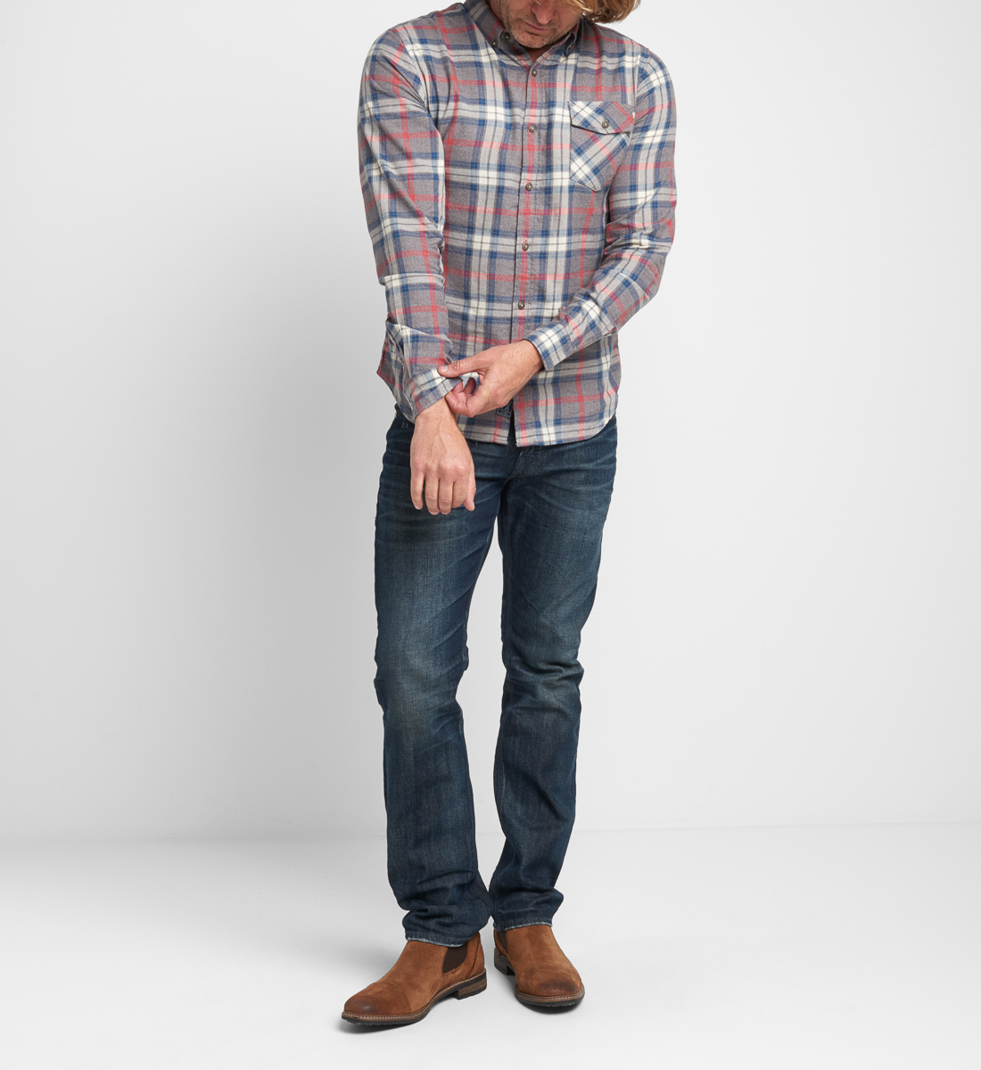 Bronx Plaid Button-Down Shirt Side