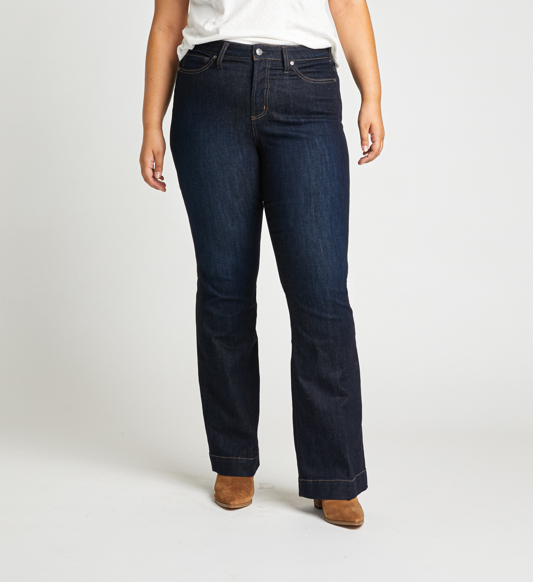 High Note High Rise Trouser Plus Size Jeans Front
