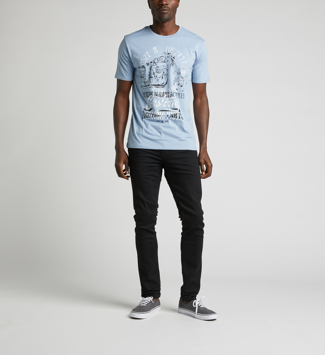 Dalian Graphic Tee,Light Blue Back