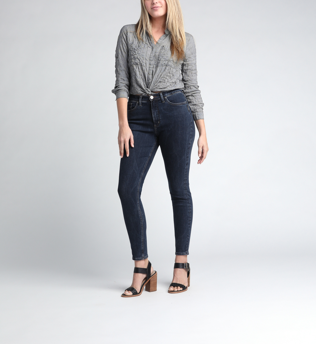 Calley Super High Rise Skinny Leg Jeans Alt Image 1