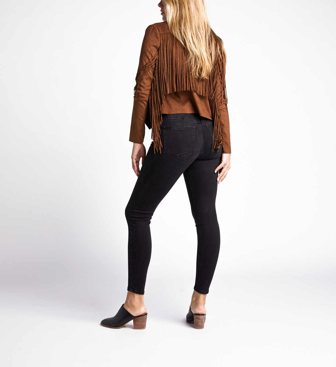 Most Wanted Mid Rise Skinny Leg Jeans,Black Back