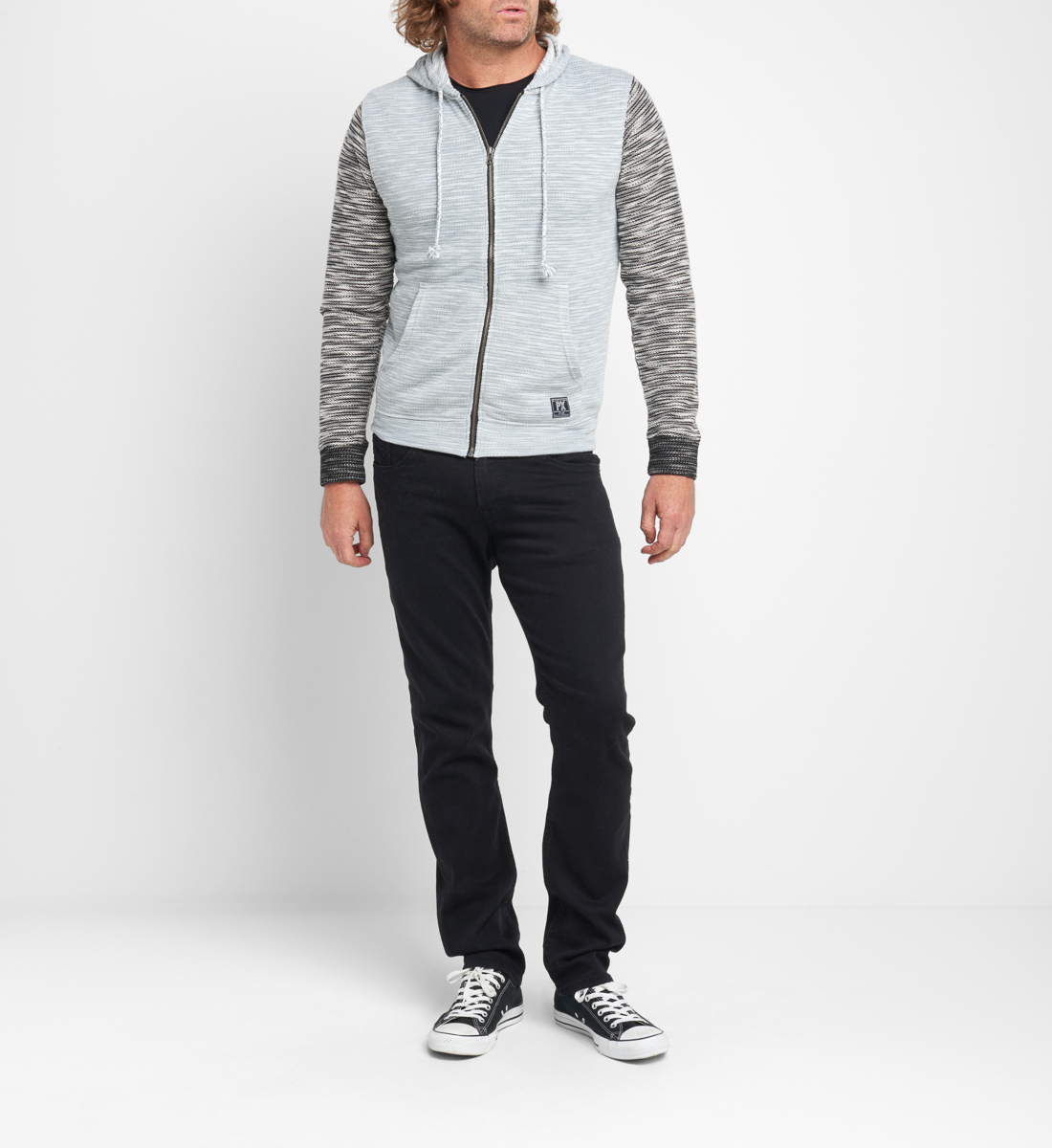 Becker Marled-Knit Zip Hoodie Side