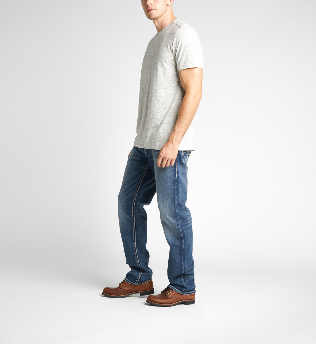 Eddie Tapered Mens Dark Wash - Big & Tall Side