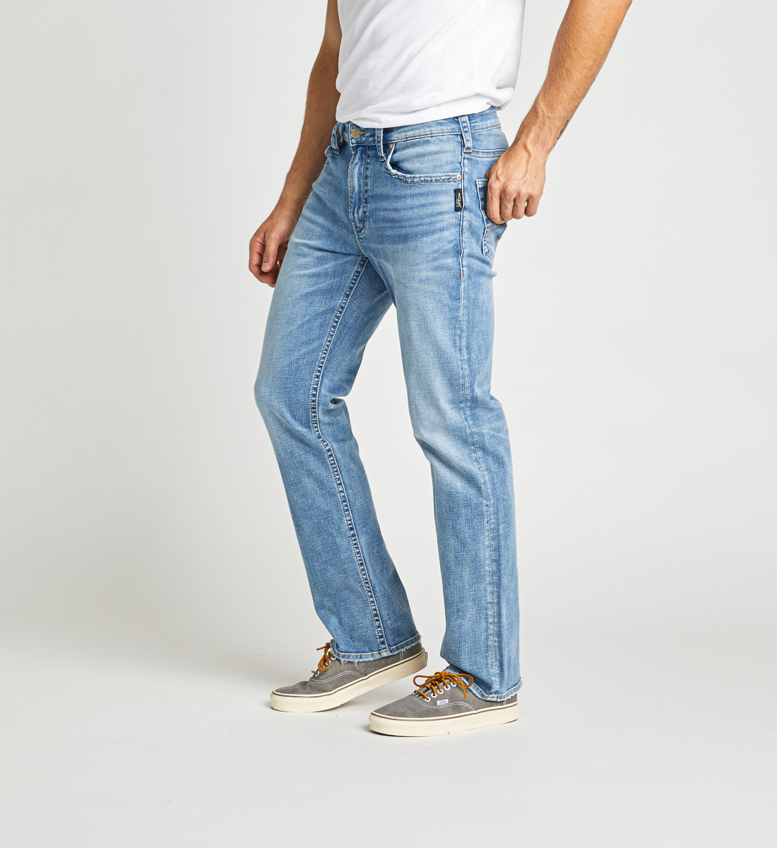 Grayson Easy Fit Straight Leg Jeans Side