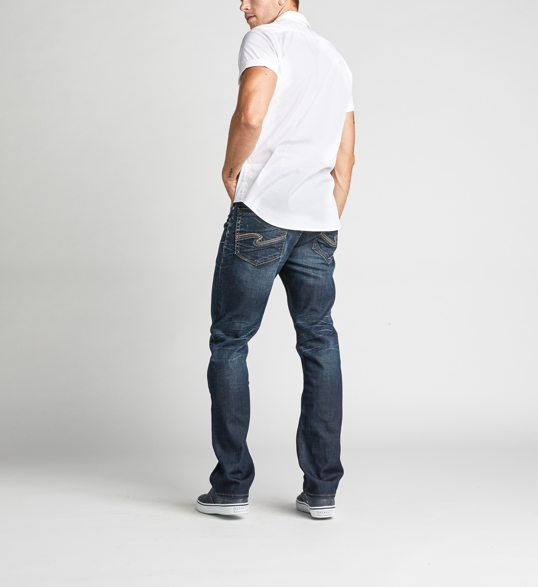 Grayson Easy Fit Straight Leg Jeans, , hi-res