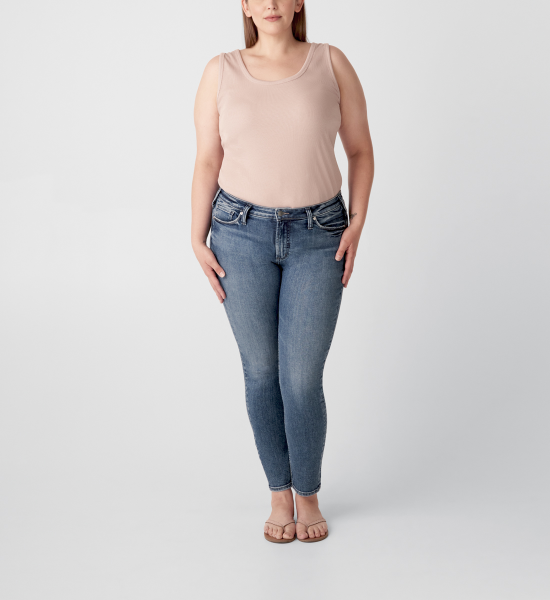 Silver Jeans Most Wanted Mid Rise Skinny Jeans Plus Size