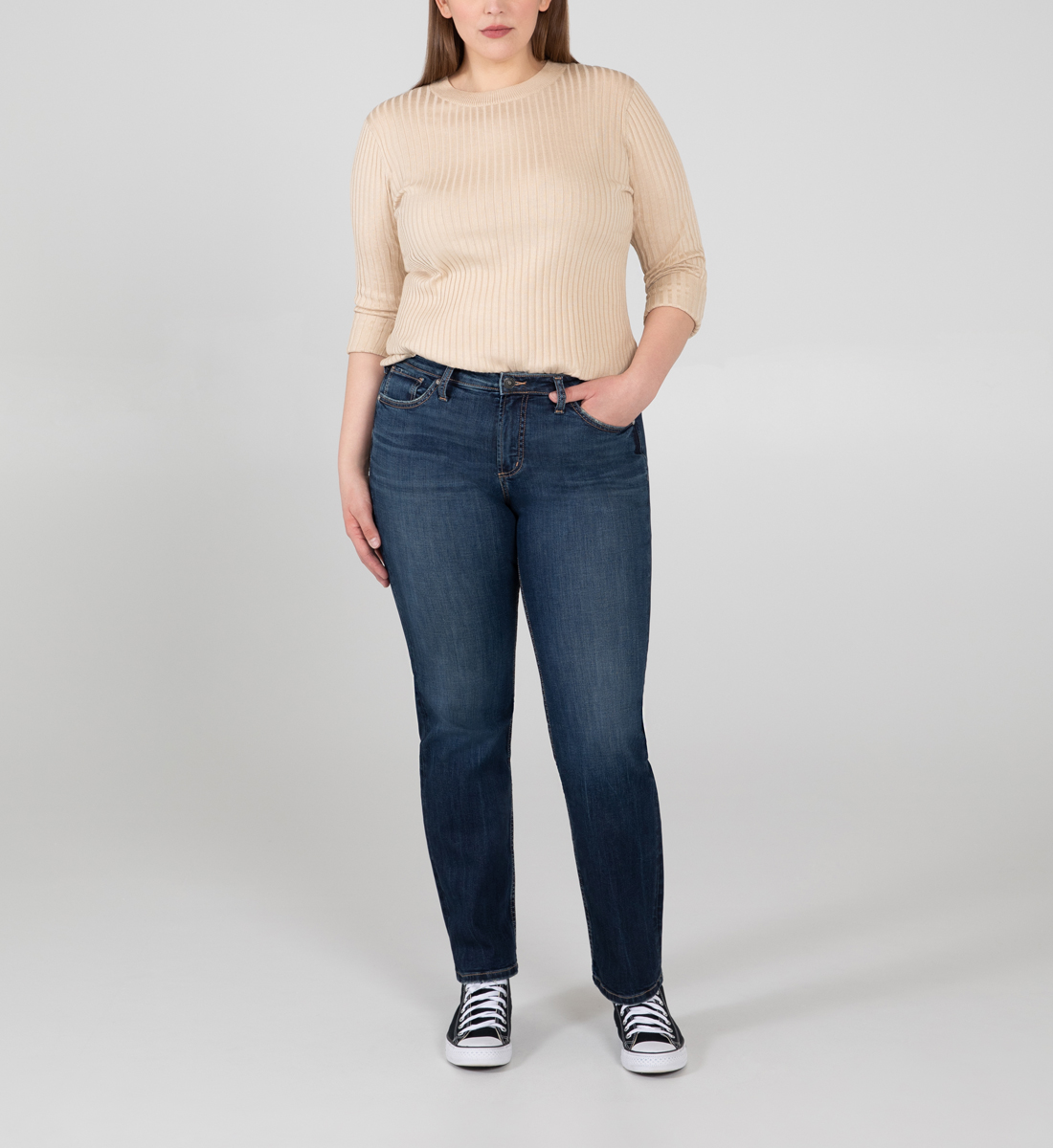 Silver Jeans Most Wanted Mid Rise Straight Leg Jeans Plus Size