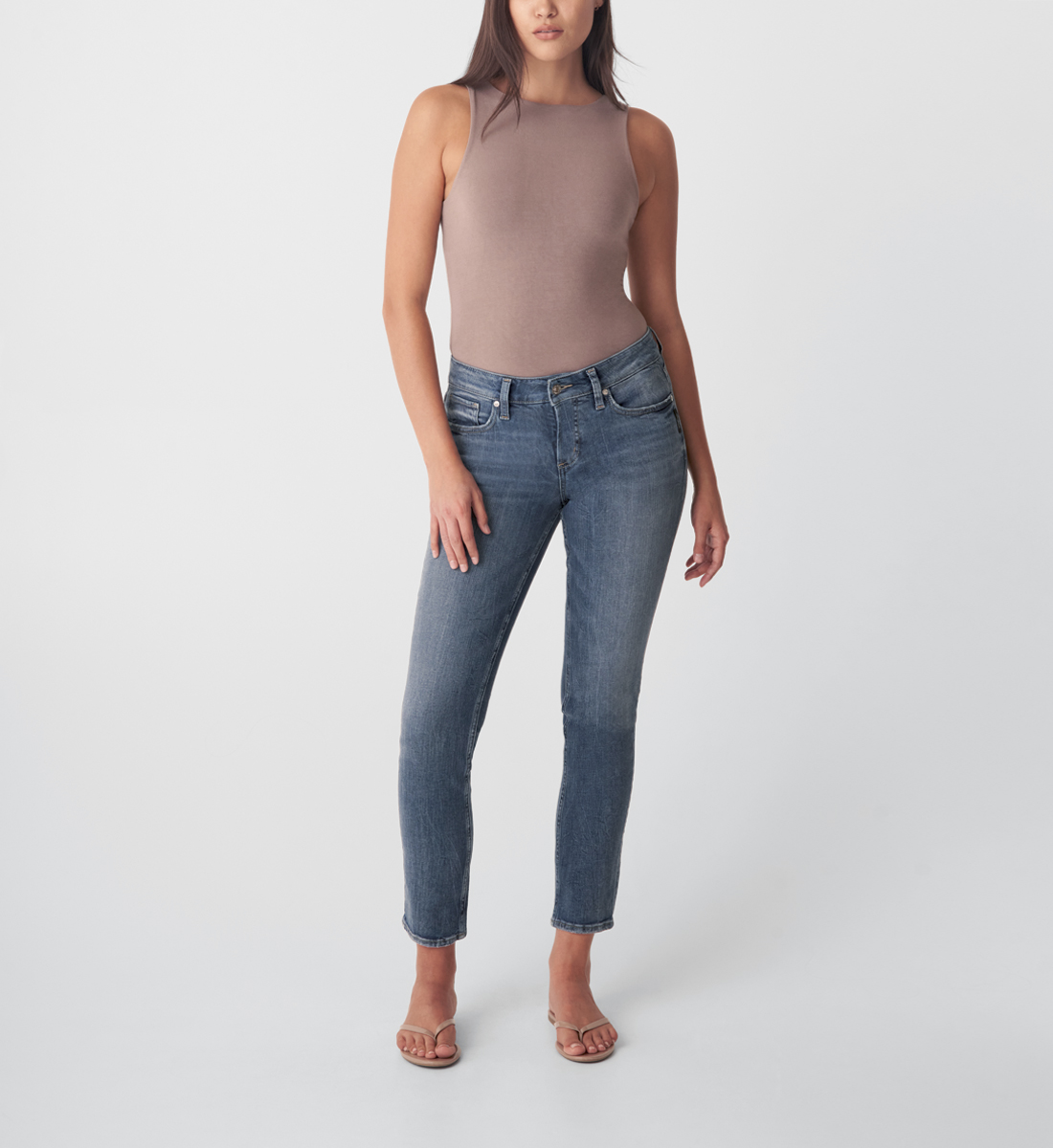 Silver Jeans Elyse Mid Rise Straight Leg Jeans