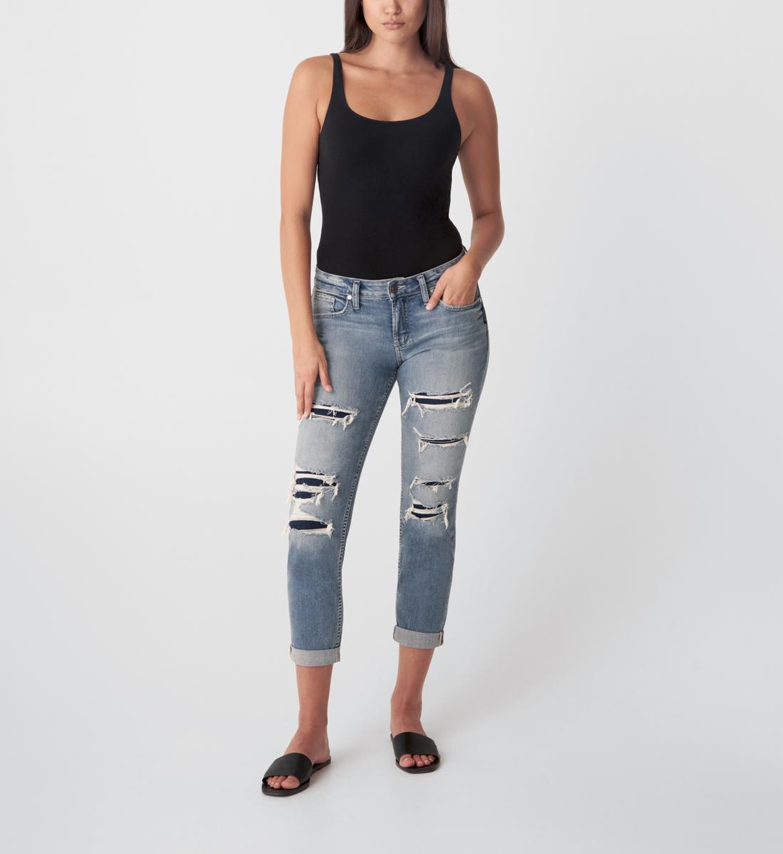 Silver Jeans Boyfriend Mid Rise Slim Leg Jeans