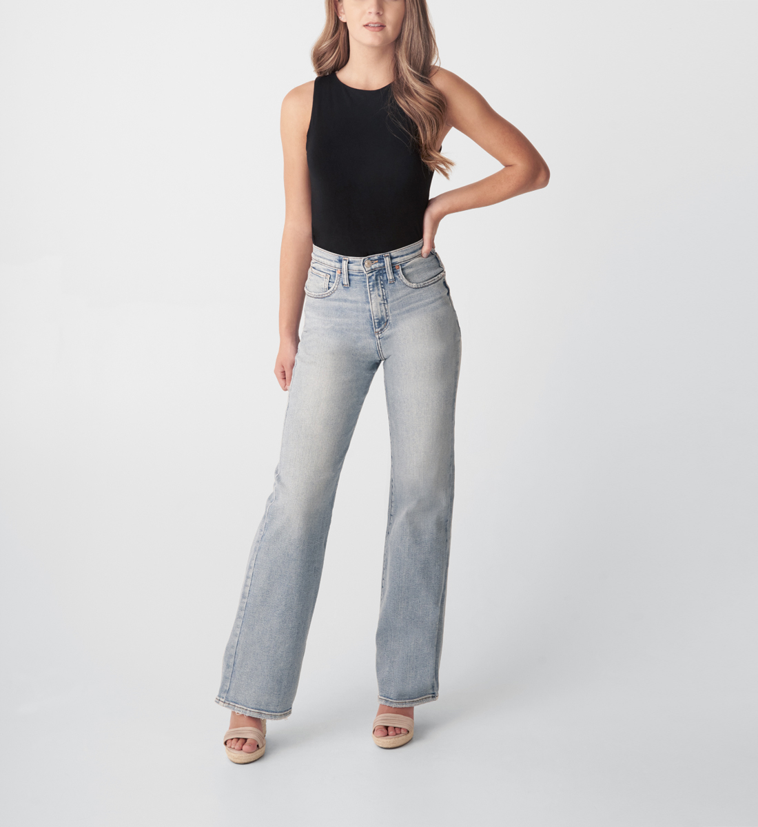 Silver Jeans Highly Desirable High Rise Trouser Leg Jeans