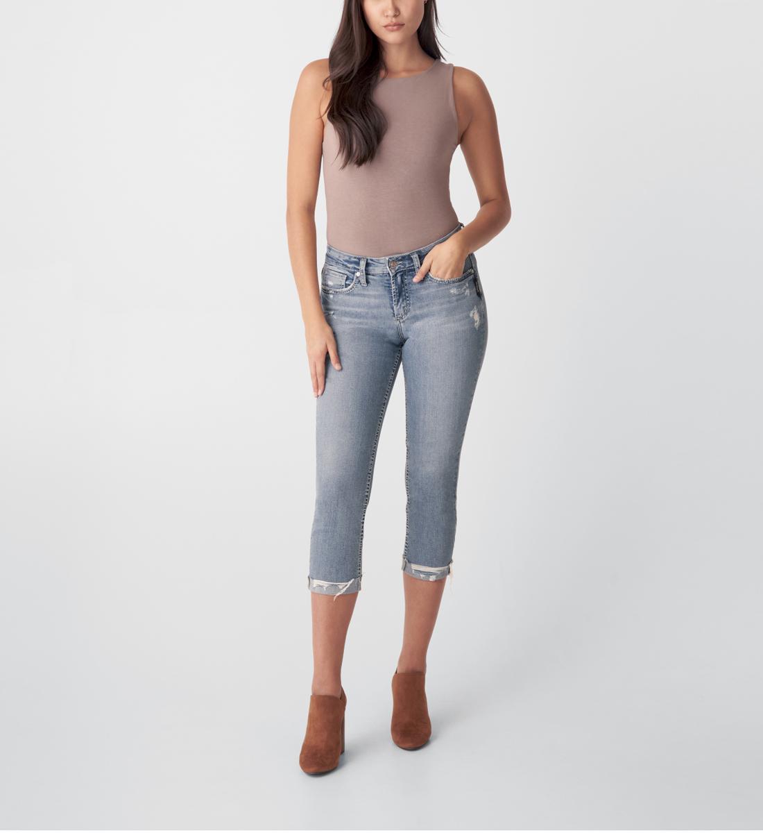 Silver Jeans Suki Mid Rise Capri