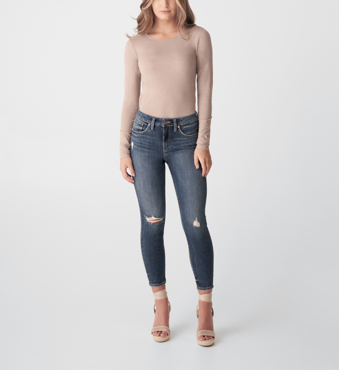 Silver Jeans Avery High Rise Skinny Crop Jeans