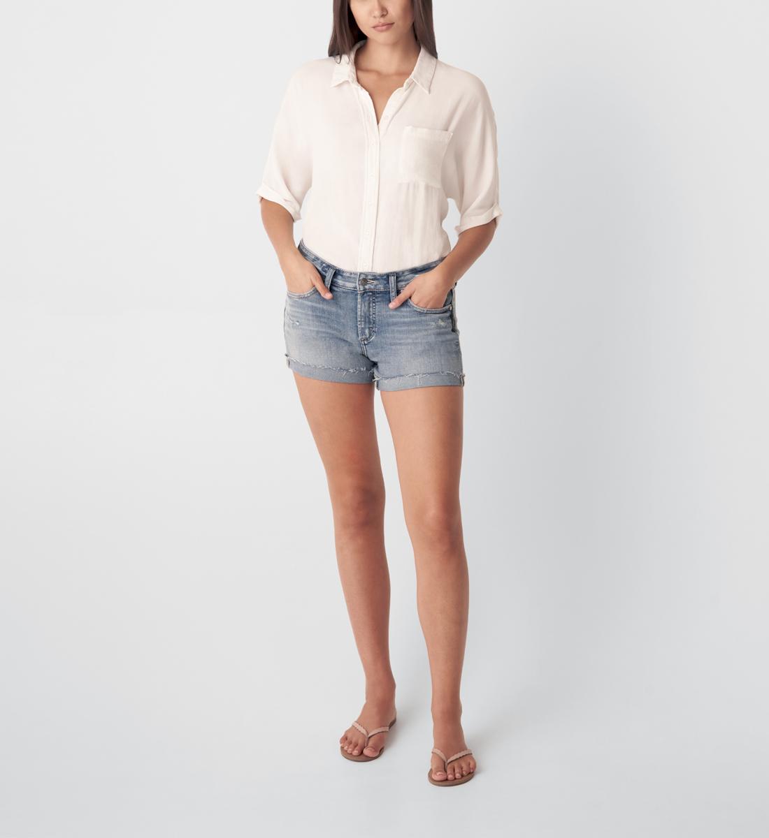 Silver Jeans Boyfriend Mid Rise Short