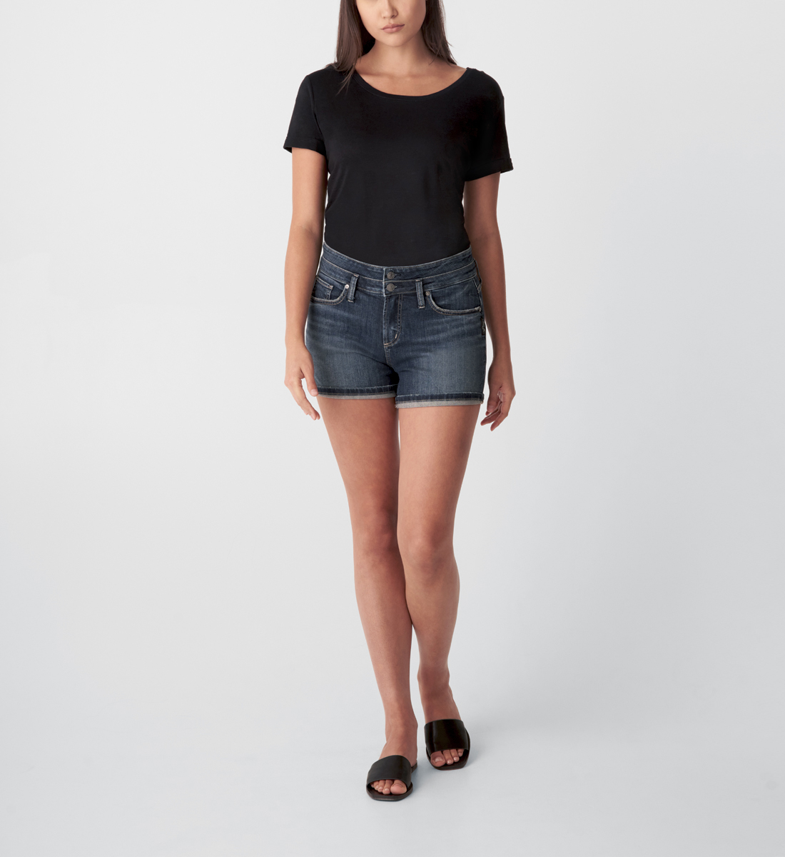 Silver Jeans Suki Mid Rise Short