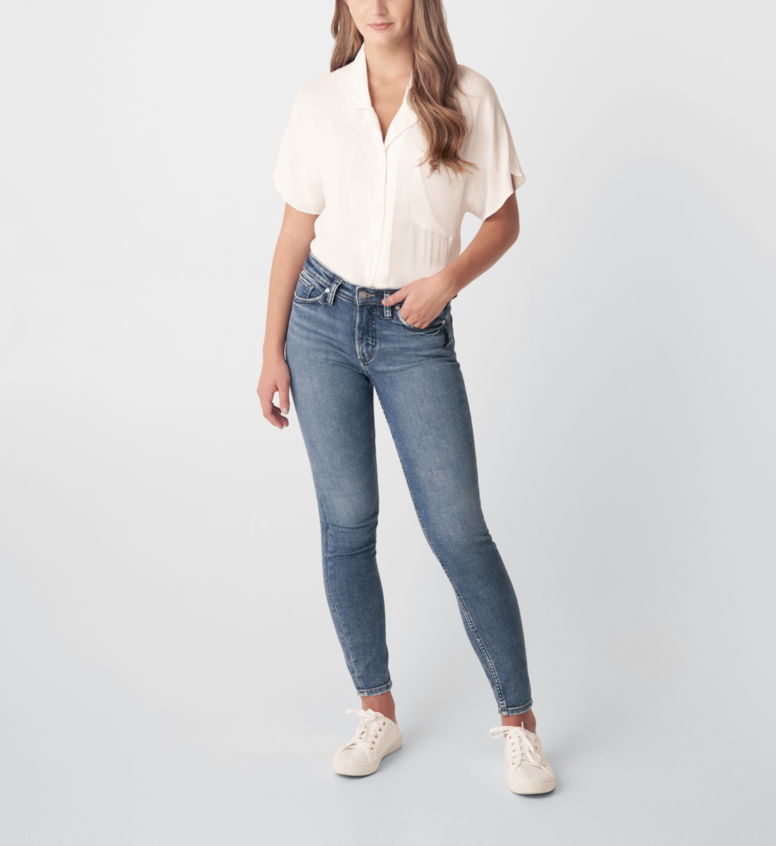 Silver Jeans Most Wanted Mid Rise Skinny Jeans