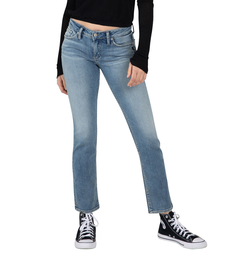 Silver Jeans Suki Mid Rise Straight Leg Jeans