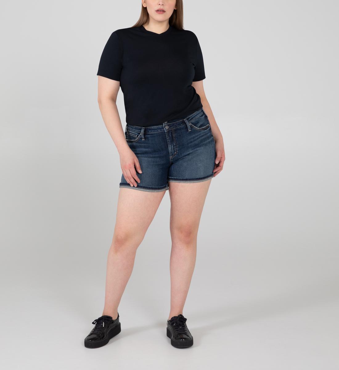 Silver Jeans Suki Mid Rise Short Plus Size