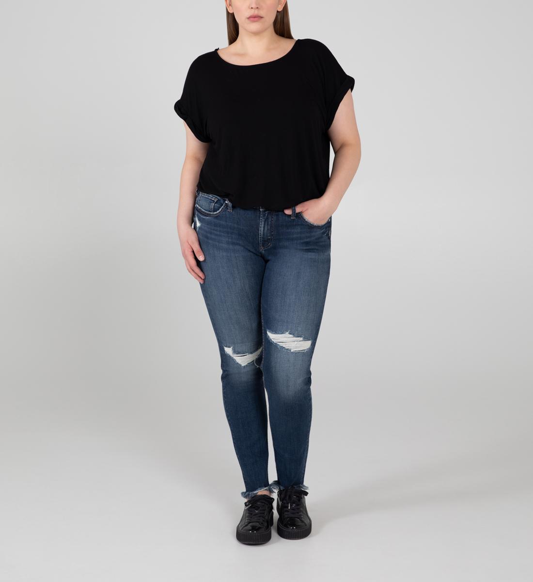 Silver Jeans Suki Mid Rise Skinny Jeans Plus Size
