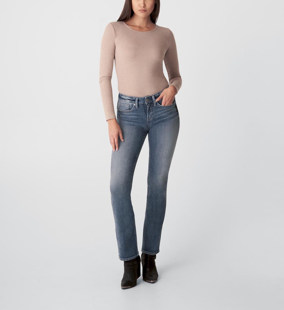Silver Jeans Suki Mid Rise Slim Bootcut Jeans