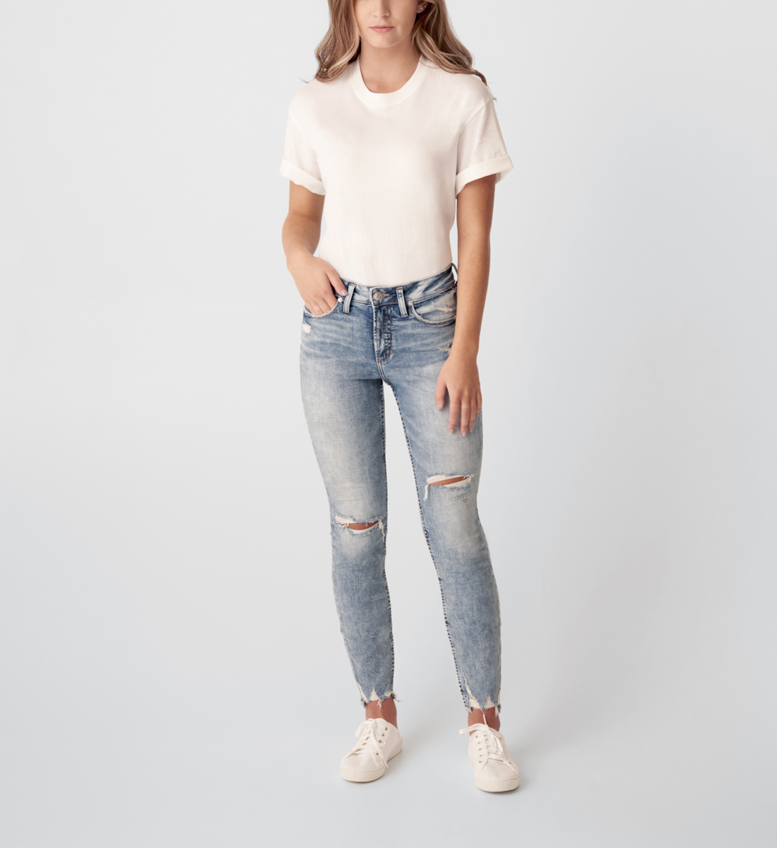 Silver Jeans Avery High Rise Skinny Jeans