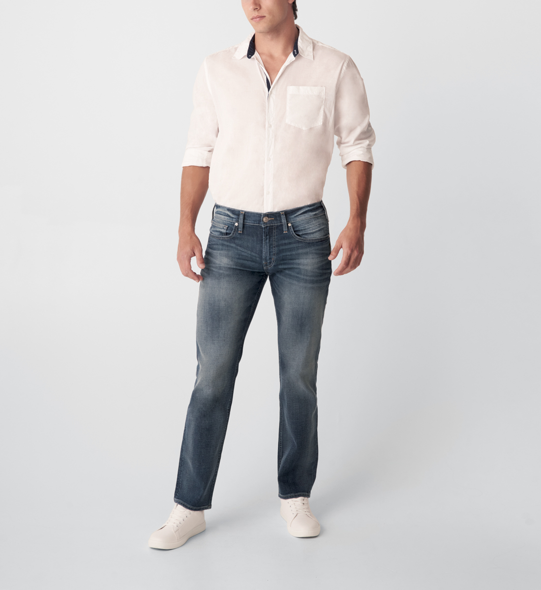 Silver Jeans Allan Classic Fit Straight Leg Jeans