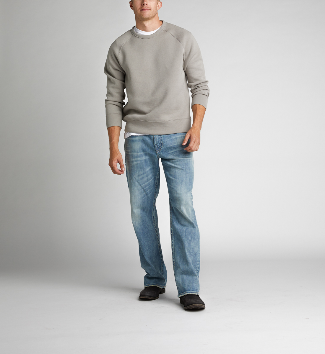 Silver Jeans Gordie Straight Mens Light Wash