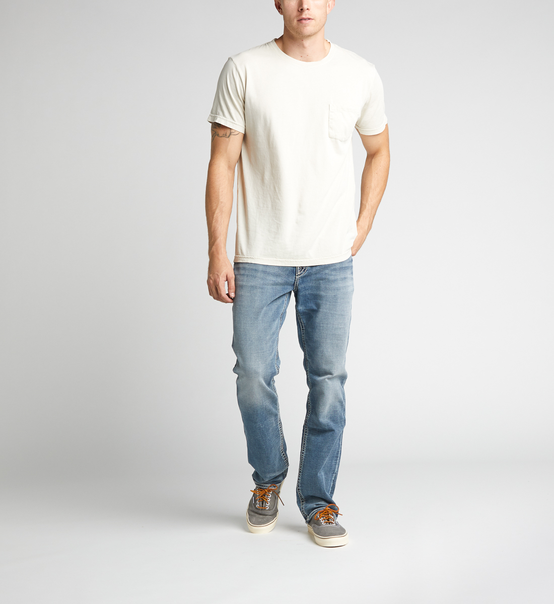 Silver Jeans Grayson Straight Mens Light Wash