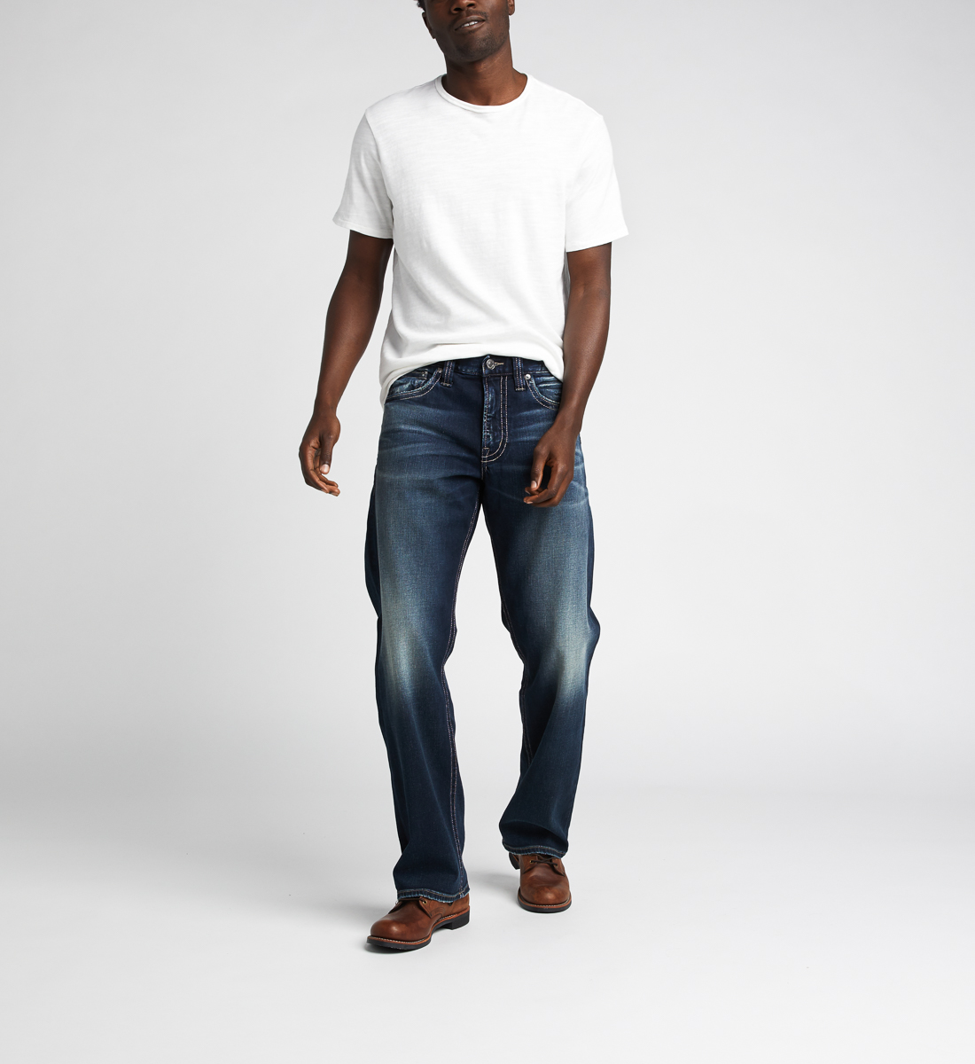 Silver Jeans Zac Relaxed Fit Straight Jeans