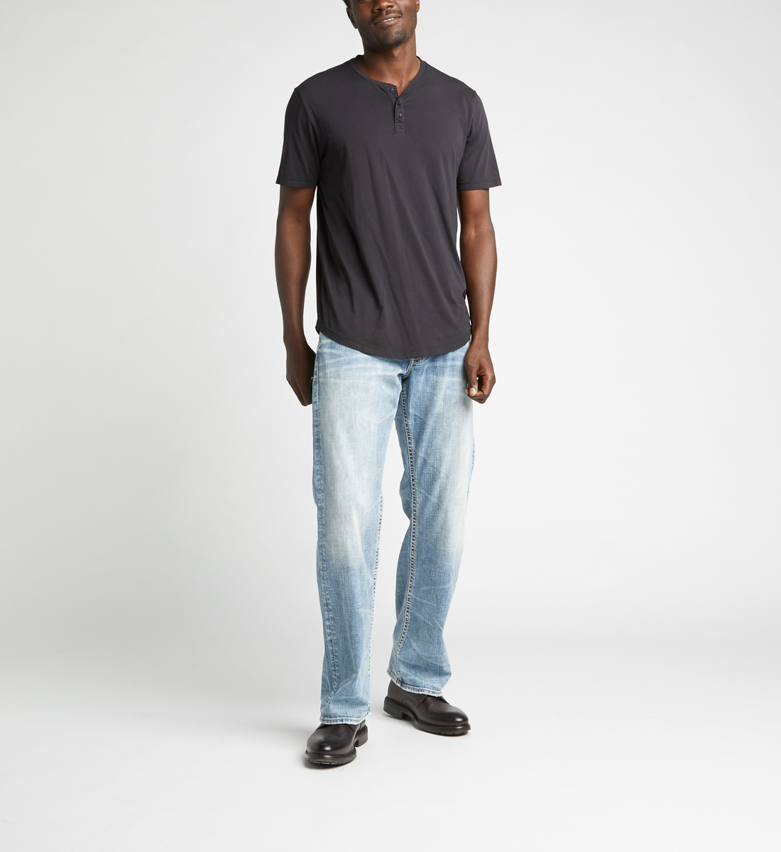 Silver Jeans Zac Relaxed Fit Straight Leg Jeans