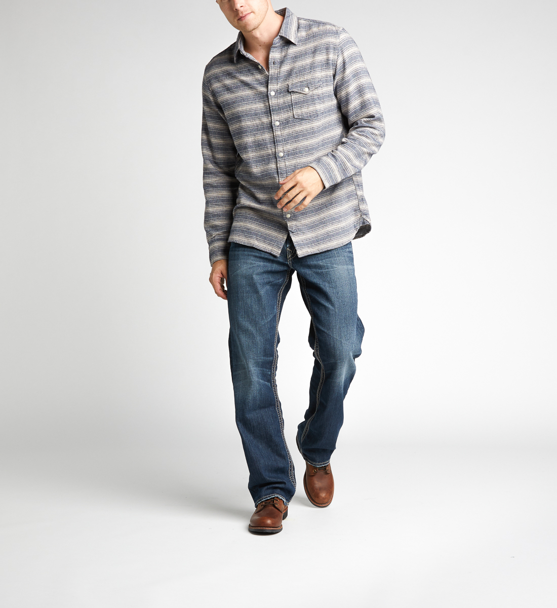 Silver Jeans Gordie Loose Fit Straight Leg Jeans