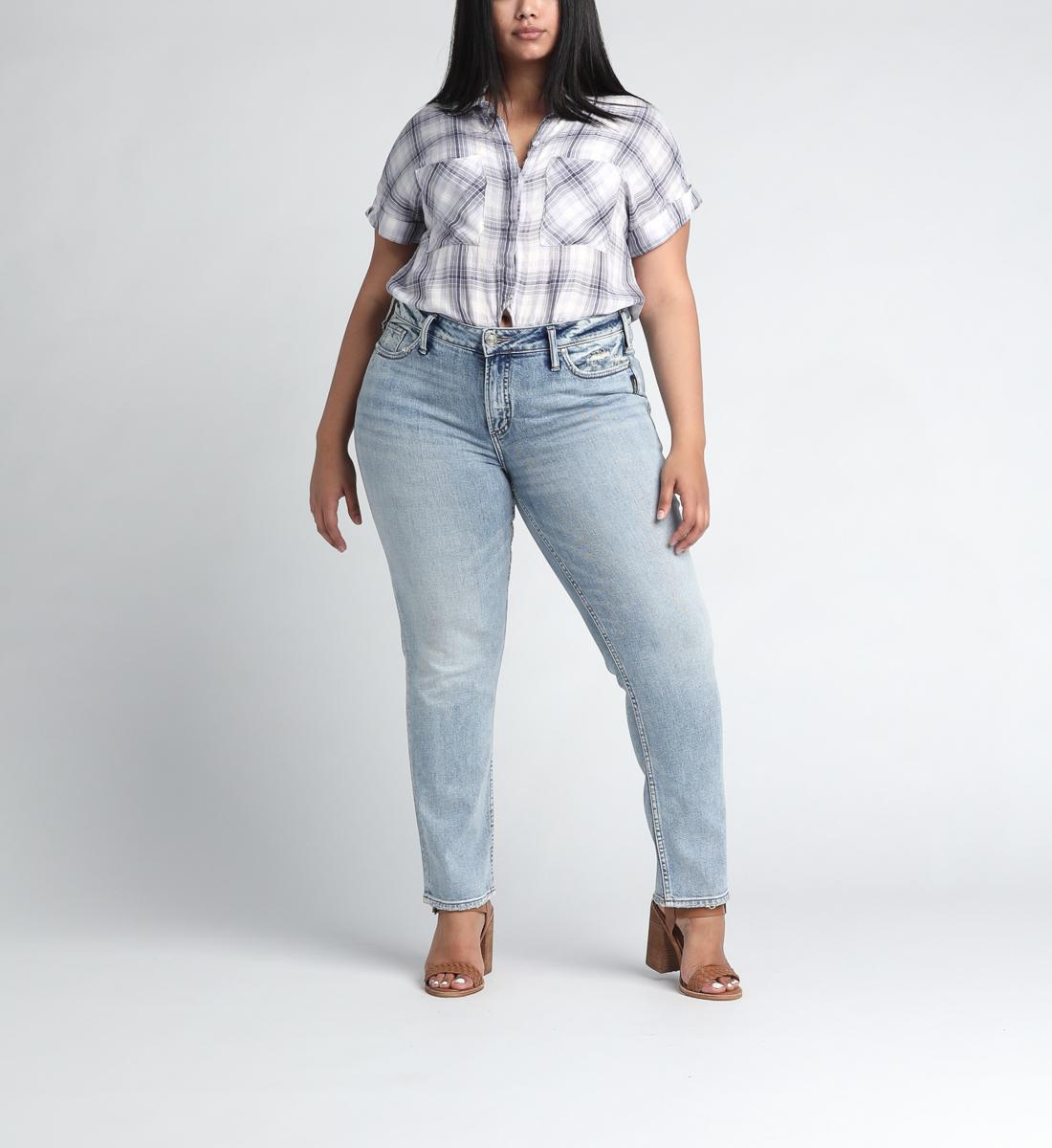Silver Jeans Elyse Mid Rise Slim Leg Jeans