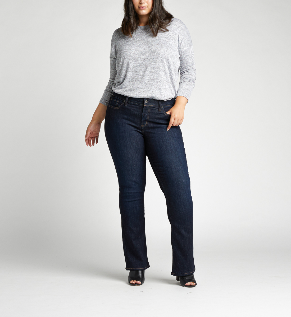 Silver Jeans Elyse Mid Rise Slim Bootcut Plus Size Jeans