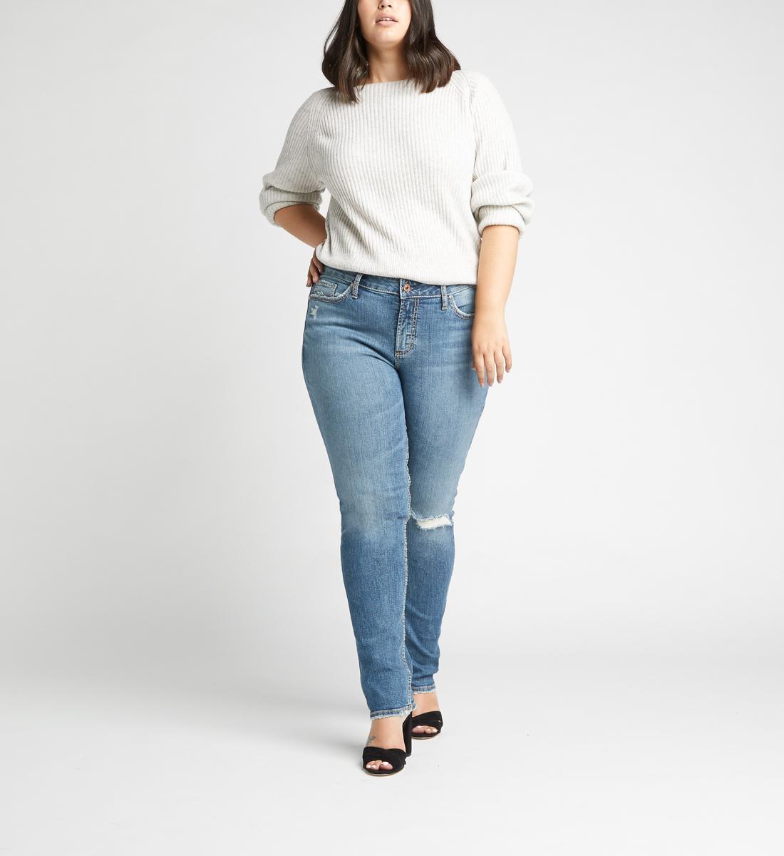 Silver Jeans Avery High Rise Slim Leg Jeans Plus Size