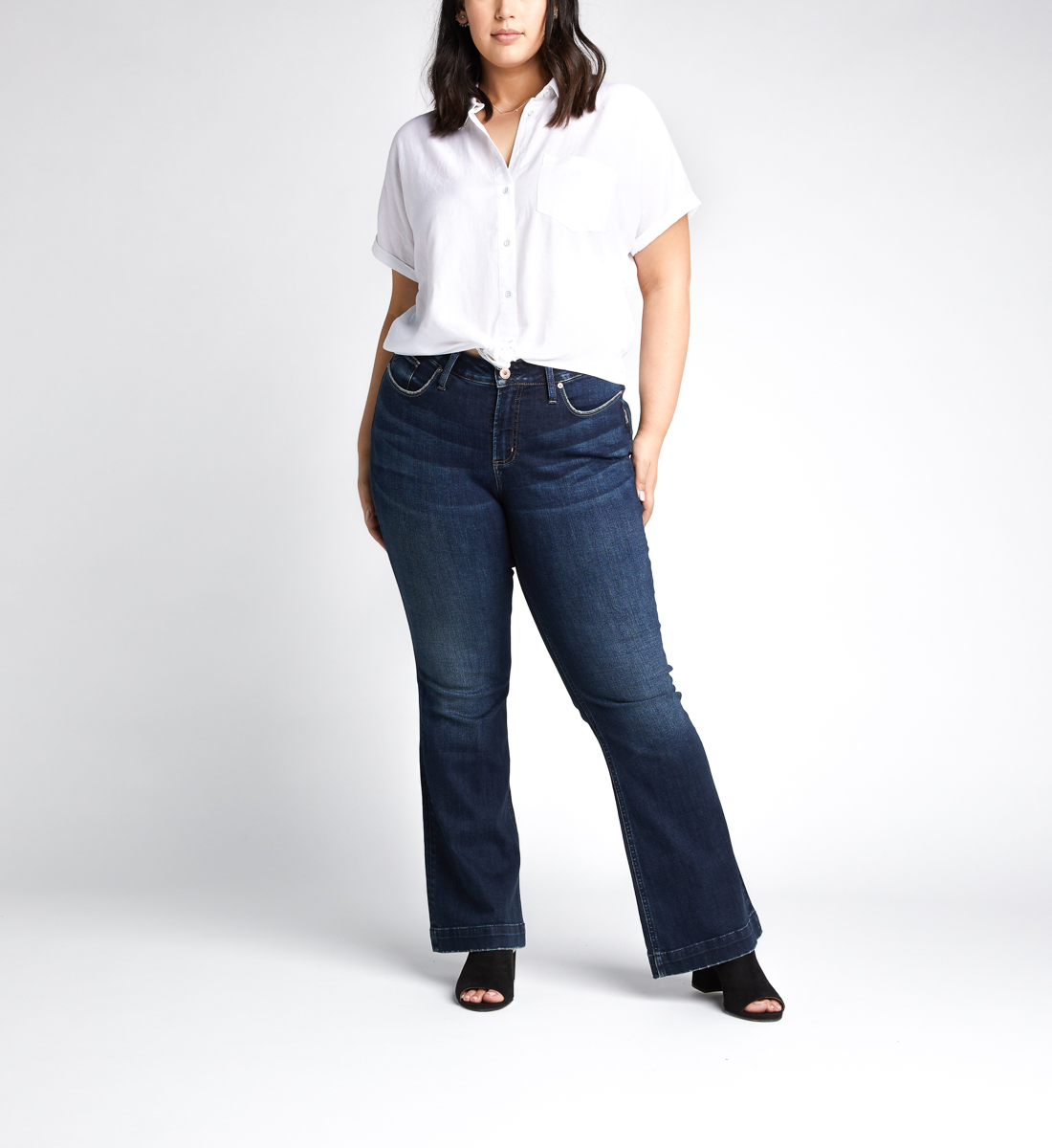 Silver Jeans Avery High Rise Trouser Pants Plus Size