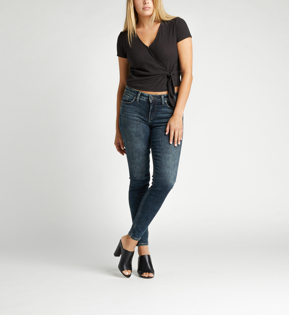 Silver Jeans Elyse Mid Rise Skinny Jeans