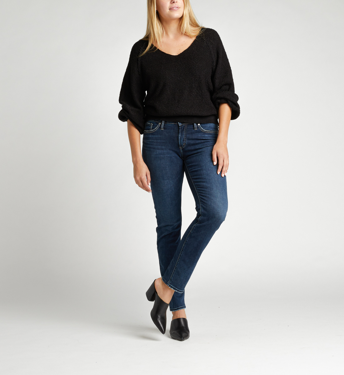 Silver Jeans Elyse Mid Rise Slim Leg Jeans