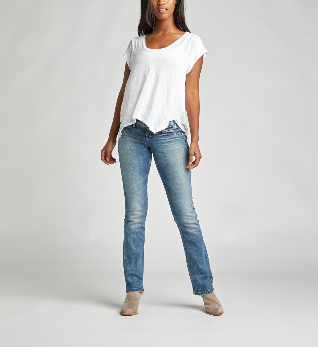 Silver Jeans Tuesday Low Rise Slim Bootcut Jeans