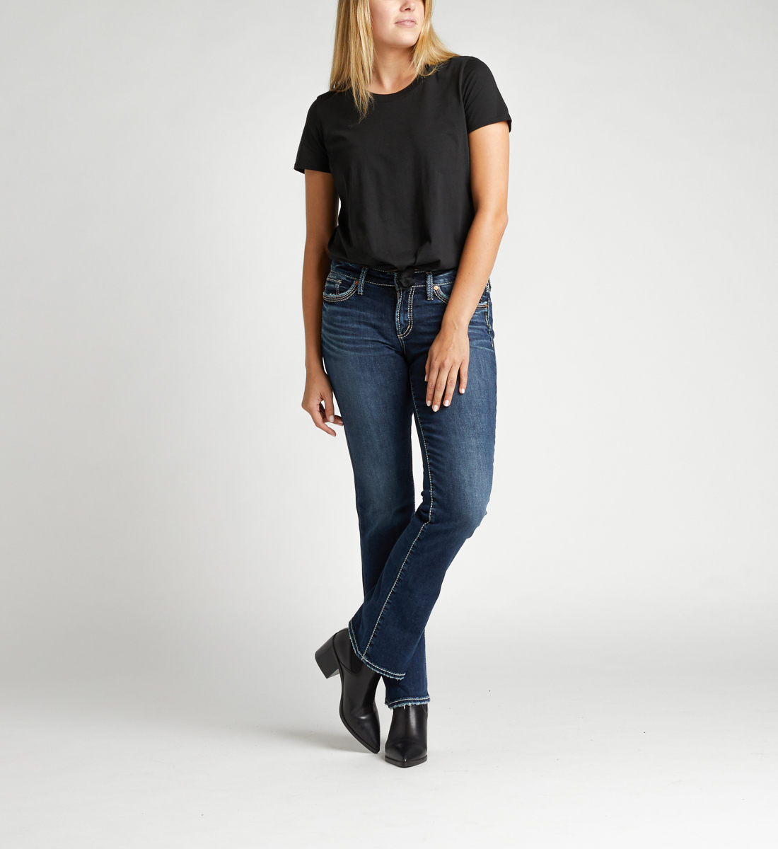 Silver Jeans Suki Mid Rise Slim Bootcut Jeans