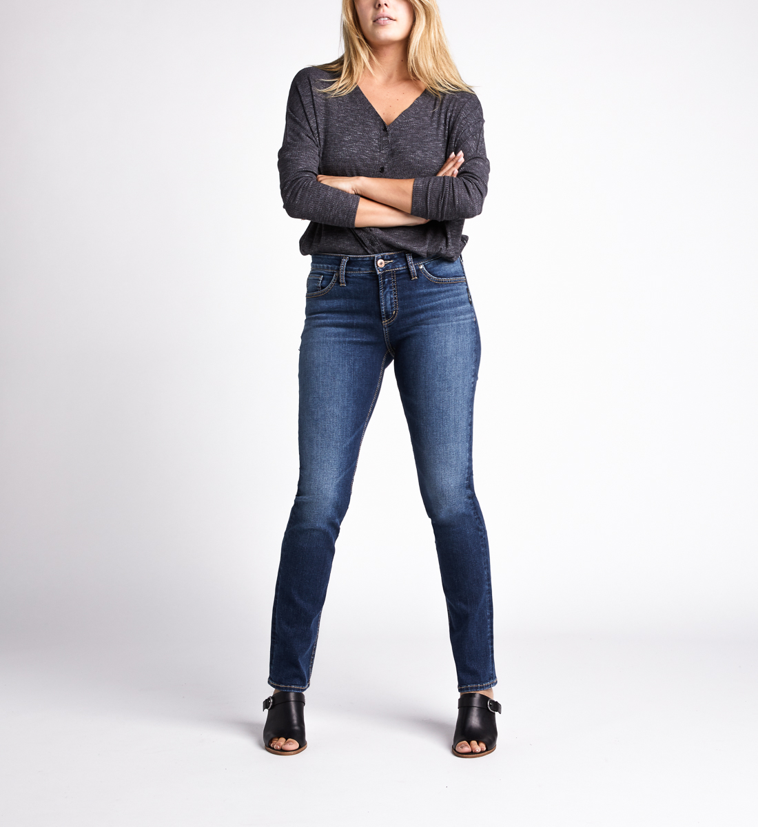 Silver Jeans Avery High Rise Straight Jeans