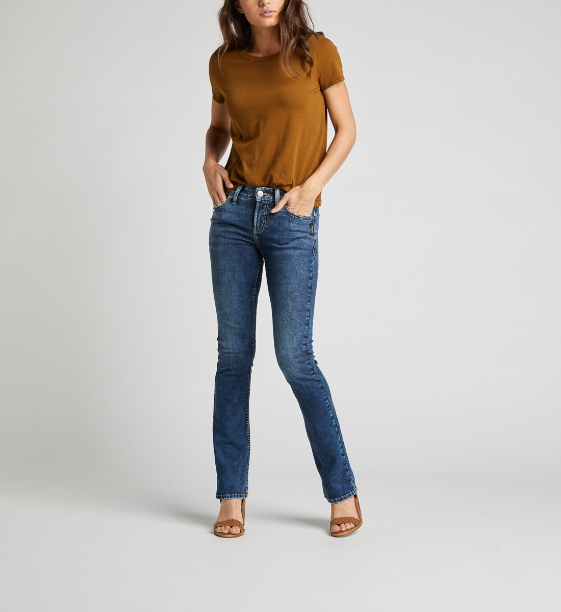 Silver Jeans Avery High Rise Slim Bootcut Jeans