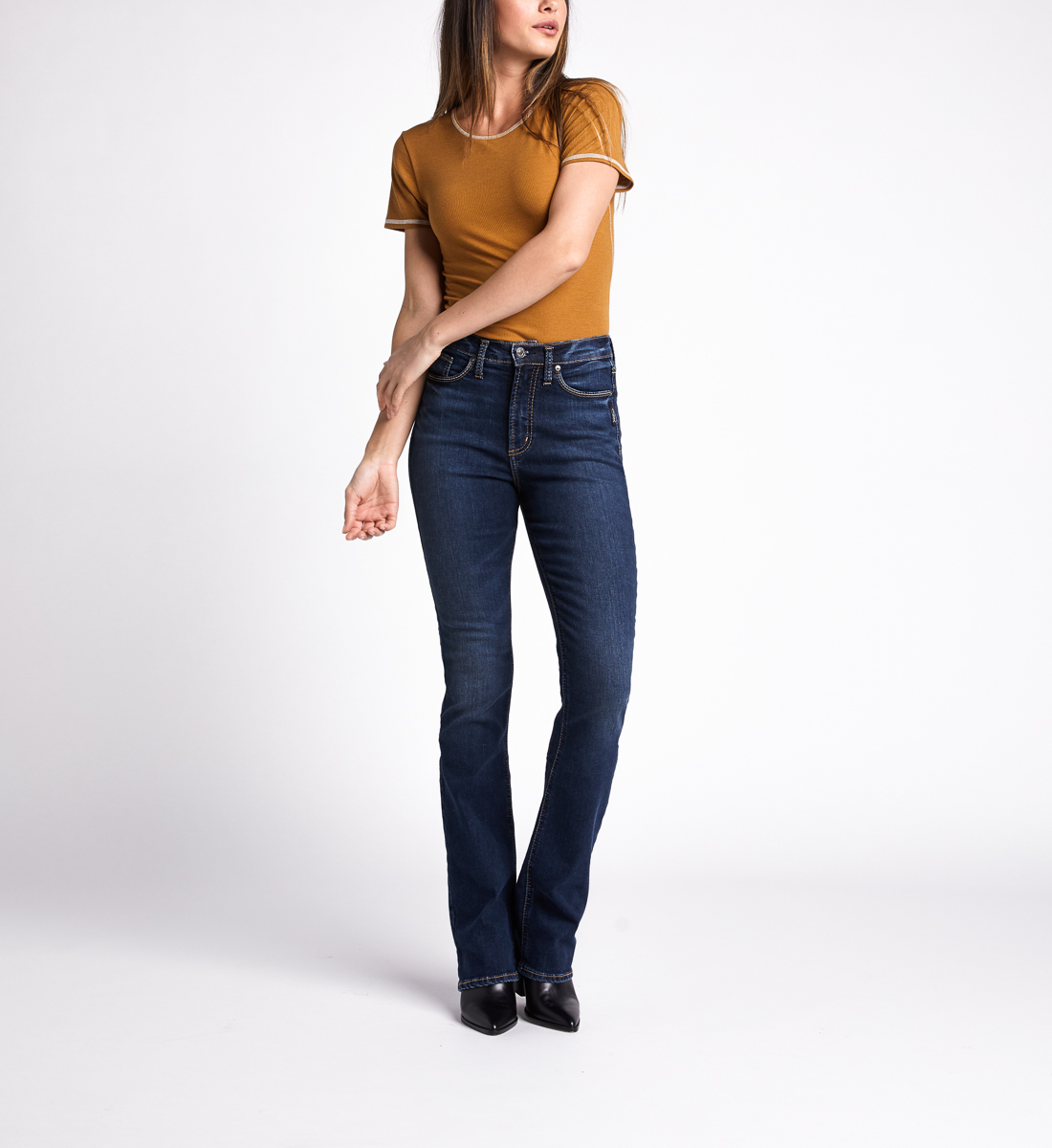Silver Jeans Calley High Rise Slim Bootcut Jeans