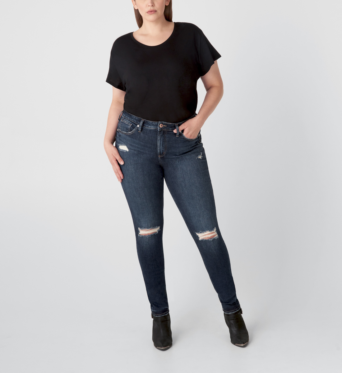 Silver Jeans Avery High Rise Skinny Jeans Plus Size