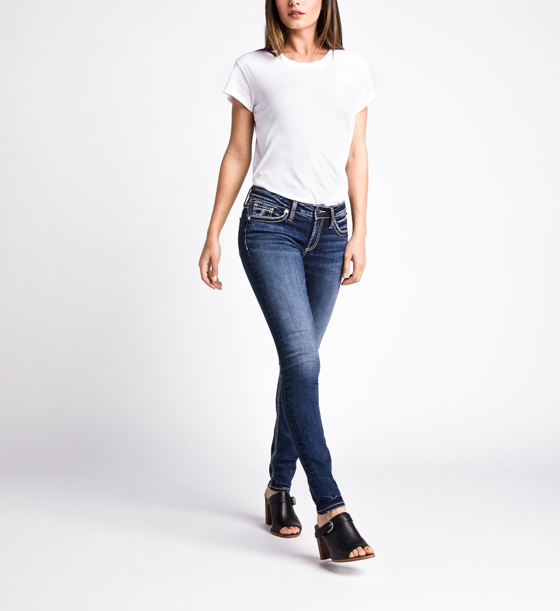 Silver Jeans Suki Mid Rise Skinny Leg Jeans