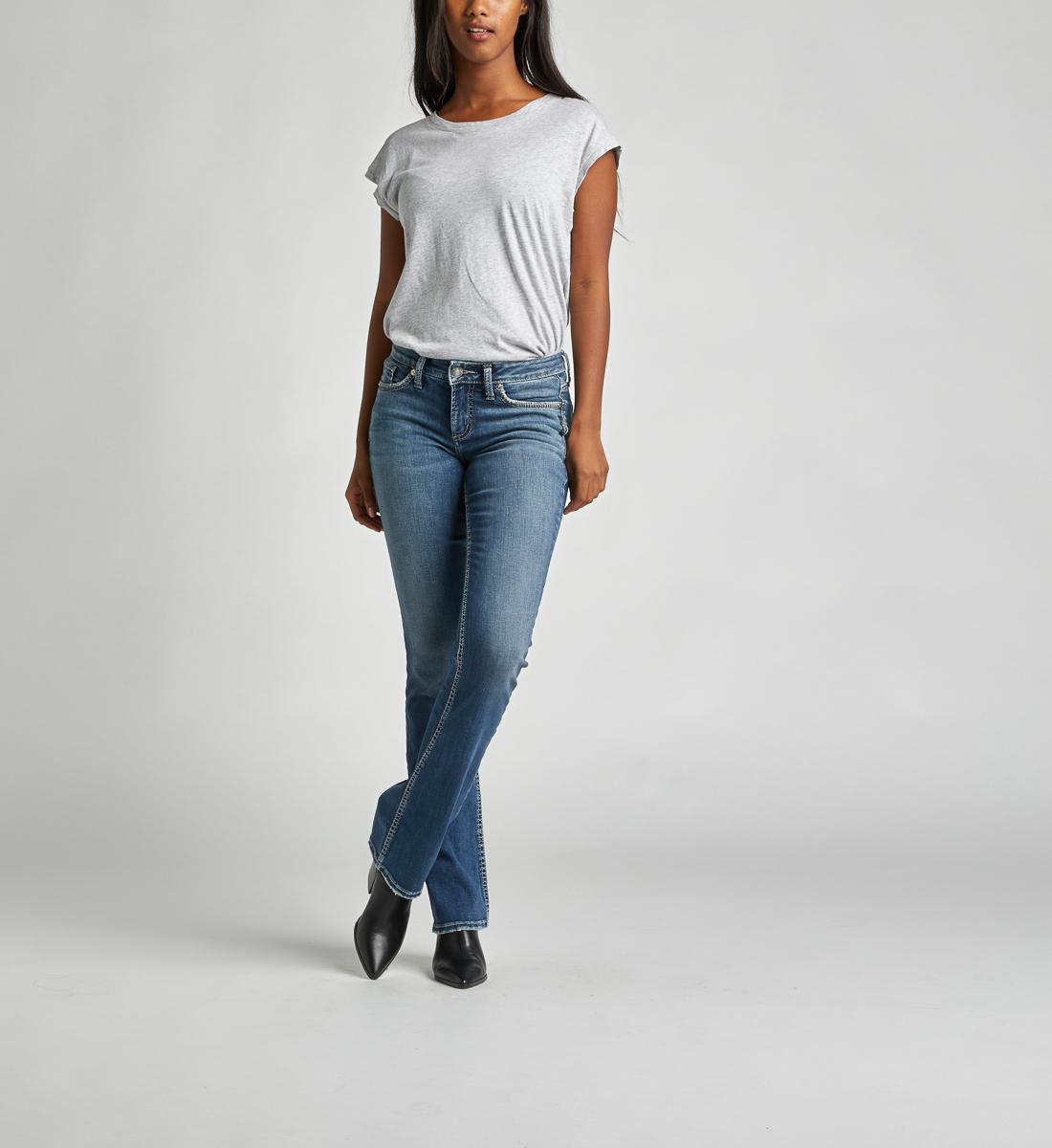 Silver Jeans Suki Mid-Rise Curvy Slim Bootcut Jeans