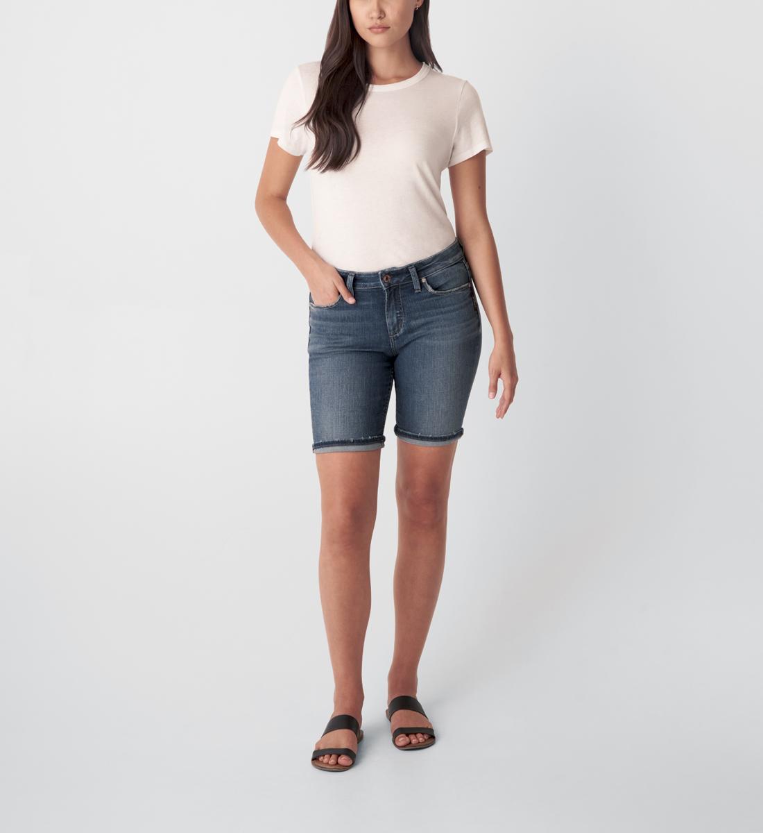 Silver Jeans Suki Mid Rise Bermuda Short