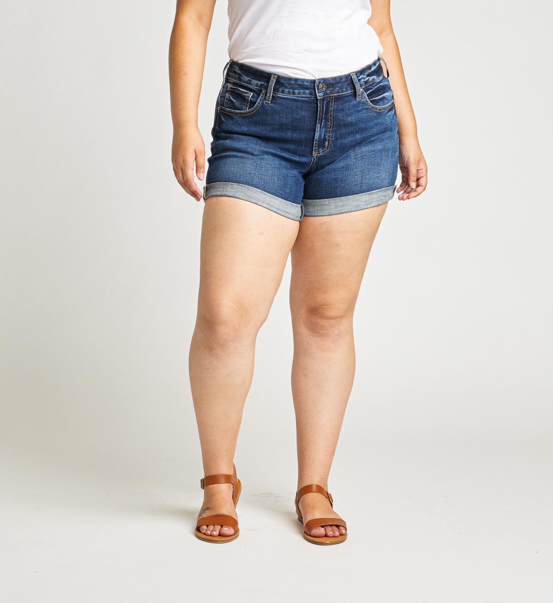 Silver Jeans Boyfriend Mid Rise Short Plus Size