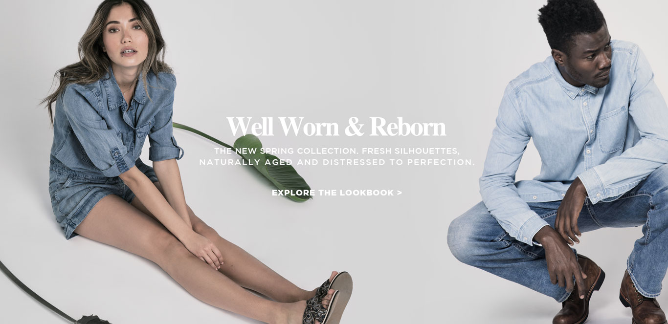 Silver Jeans Co. - Well Worn & Reborn - The new spring collection. Fresh silhouettes, naturally aged and distressed to perfection.